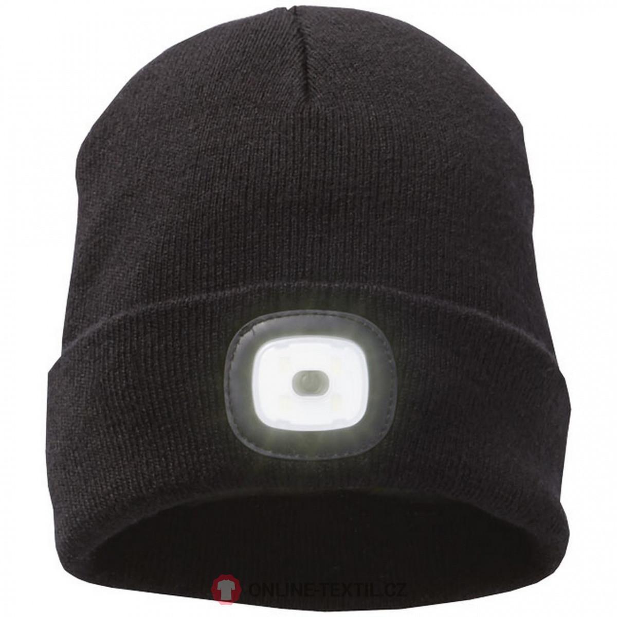 d611c67f3 Elevate Pletená čiapka Mighty s LED čelovkou 38661990 - čierna z ...