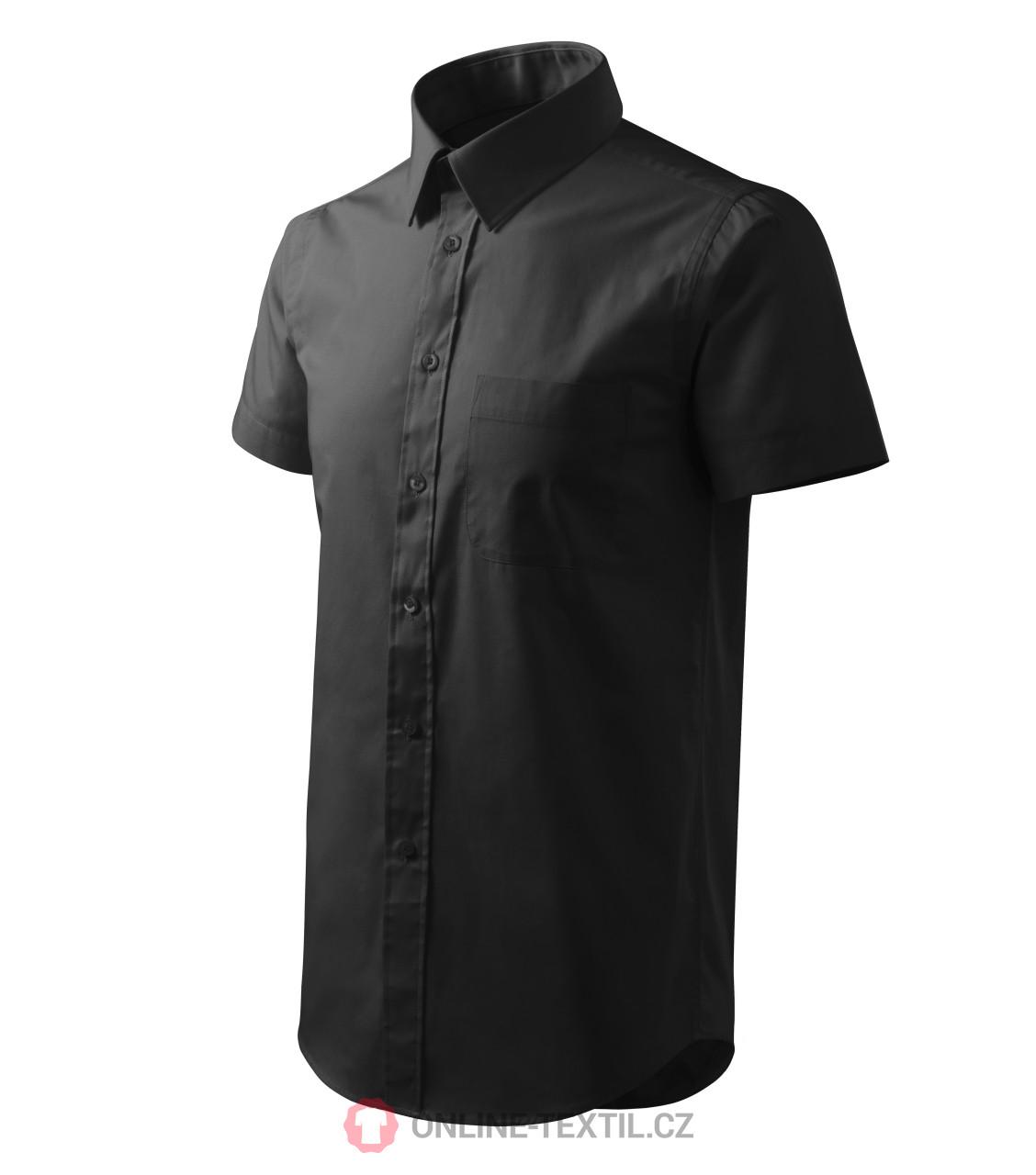 0c0d57d0f75f ADLER CZECH Pánska košeľa Chic s krátkym rukávom 207 - čierna z ...