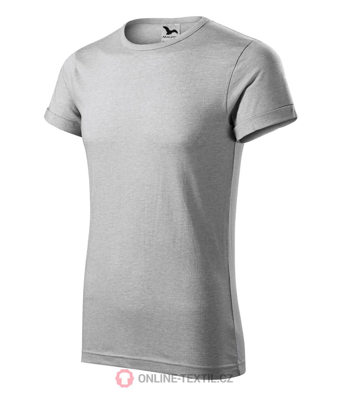 0f3f88728 ADLER CZECH Melírované pánske tričko Fusion 163 - strieborný melír z ...