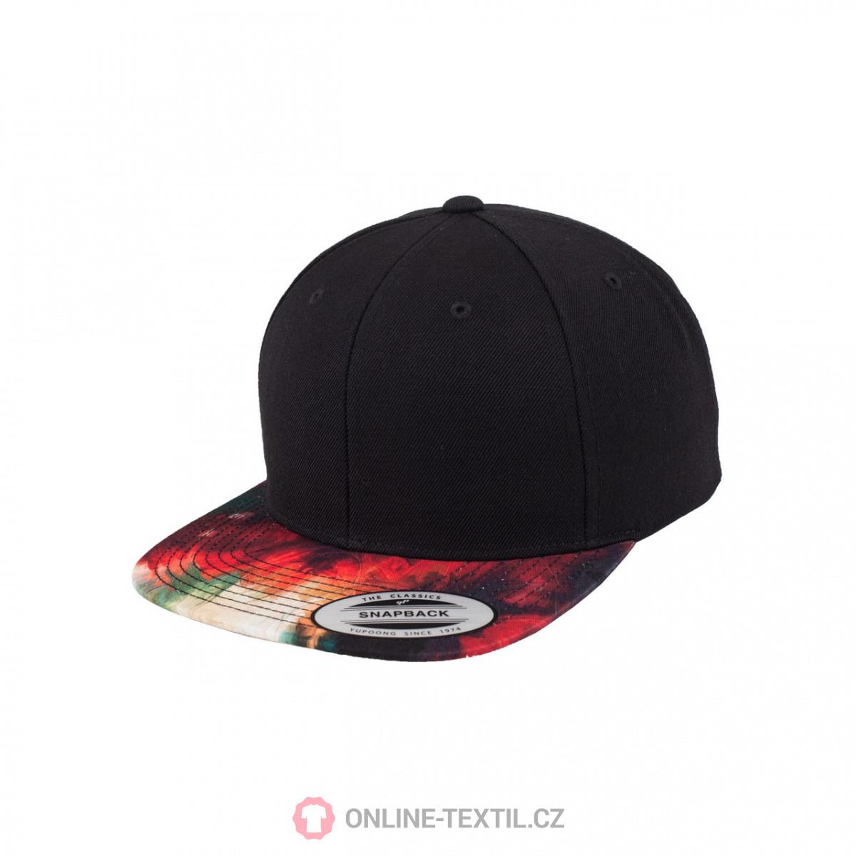2153d855d Yupoong Oil Paint Snapback 6089OP - čierna | ONLINE-TEXTIL.SK