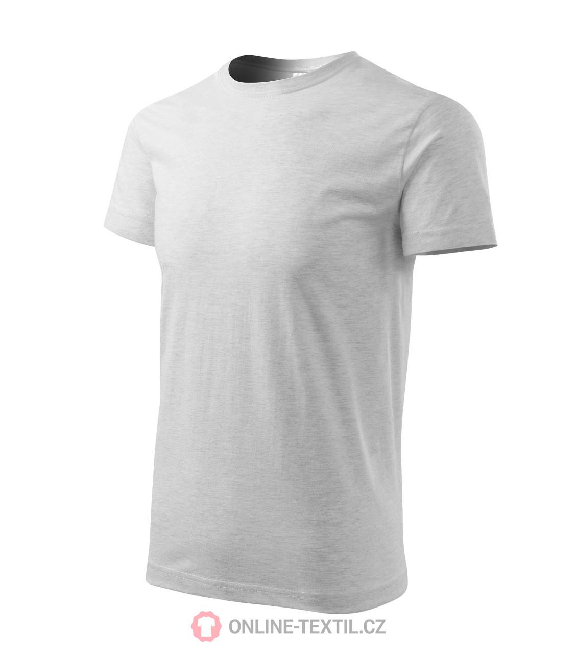 8bb8d5efc ADLER CZECH Heavy New tričko unisex 13A - svetlosivý melír z ...