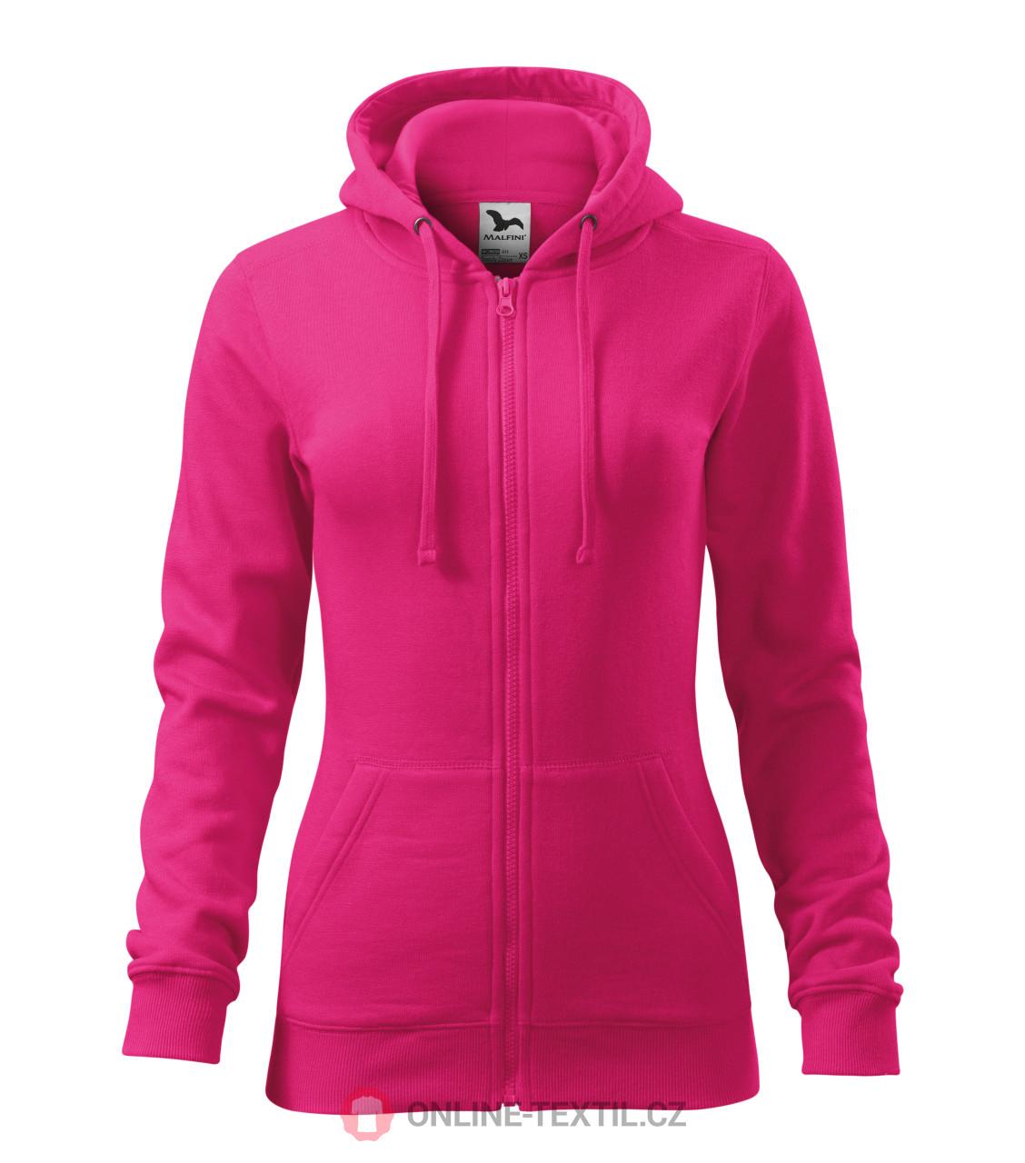 f8f2fba20db0 ADLER CZECH Dámska mikina Trendy Zipper s kapucňou 411 - purpurová z ...