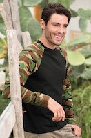 Army triko unisex Camouflage LS s dlhým rukávom