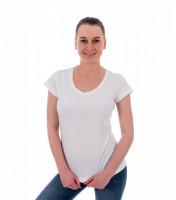 Fit V-neck tričko dámske vyššej gramáže