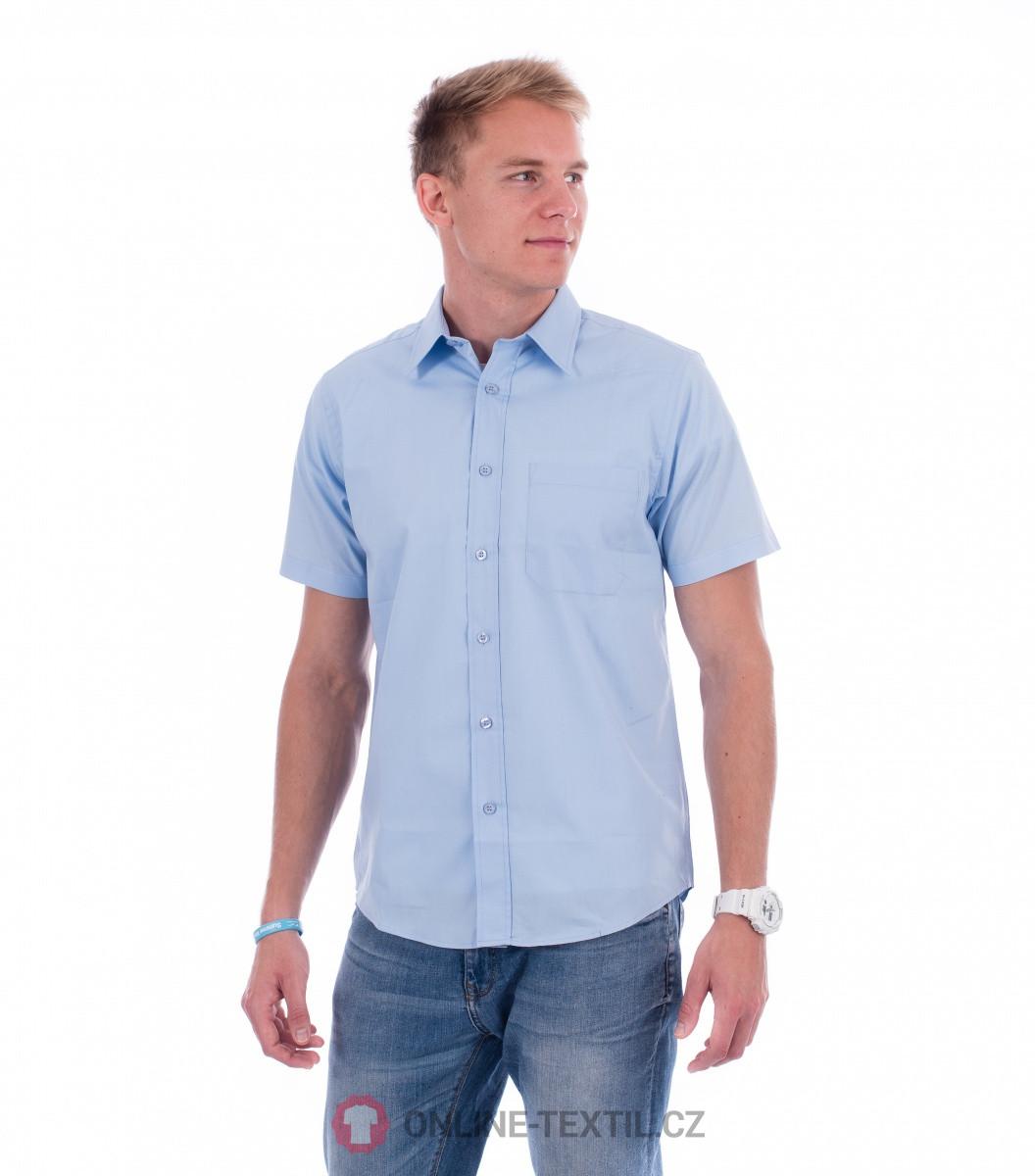 5a7814e12607 ADLER CZECH Pánska košeľa Chic s krátkym rukávom 207 - nebeská modrá ...