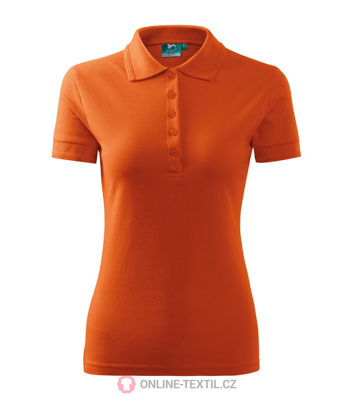 e686adfe3ebf ADLER CZECH Polokošele dámske Pique Polo 21X - oranžová z kolekcie ...