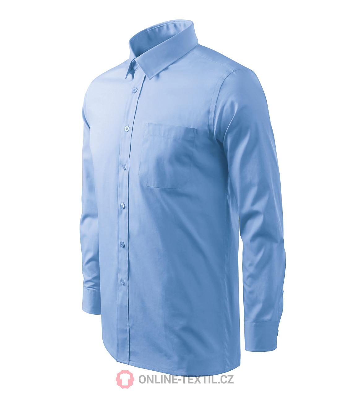 cec2dddfe ADLER CZECH Pánska košeľa Style LS s dlhým rukávom 209 - nebeská ...