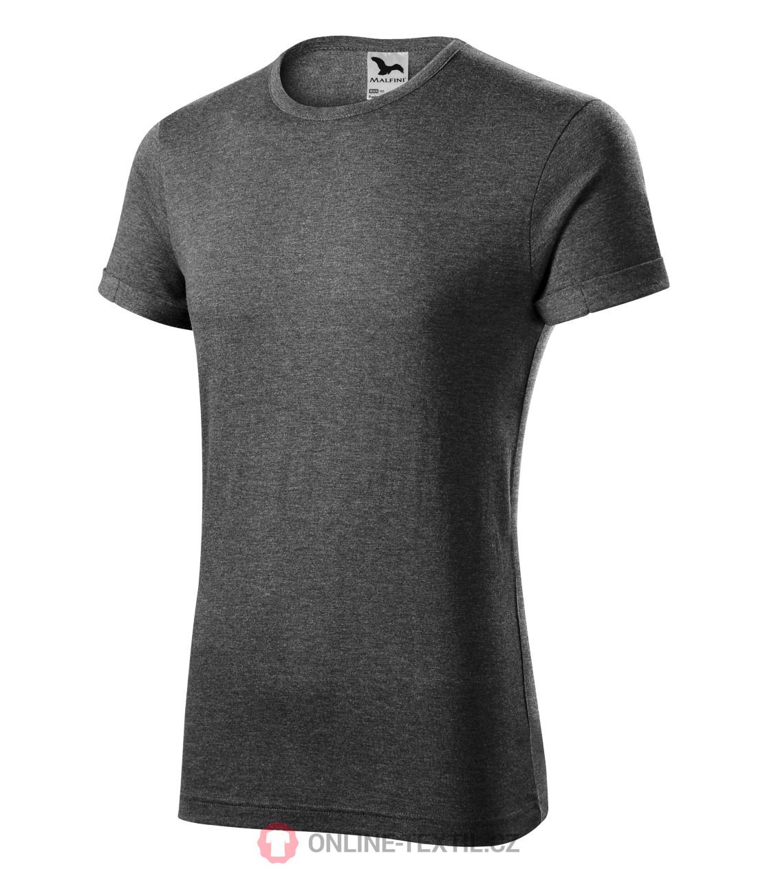 9e1cb5b06ab5 ADLER CZECH Melírované pánske tričko Fusion 163 - čierny melír z ...
