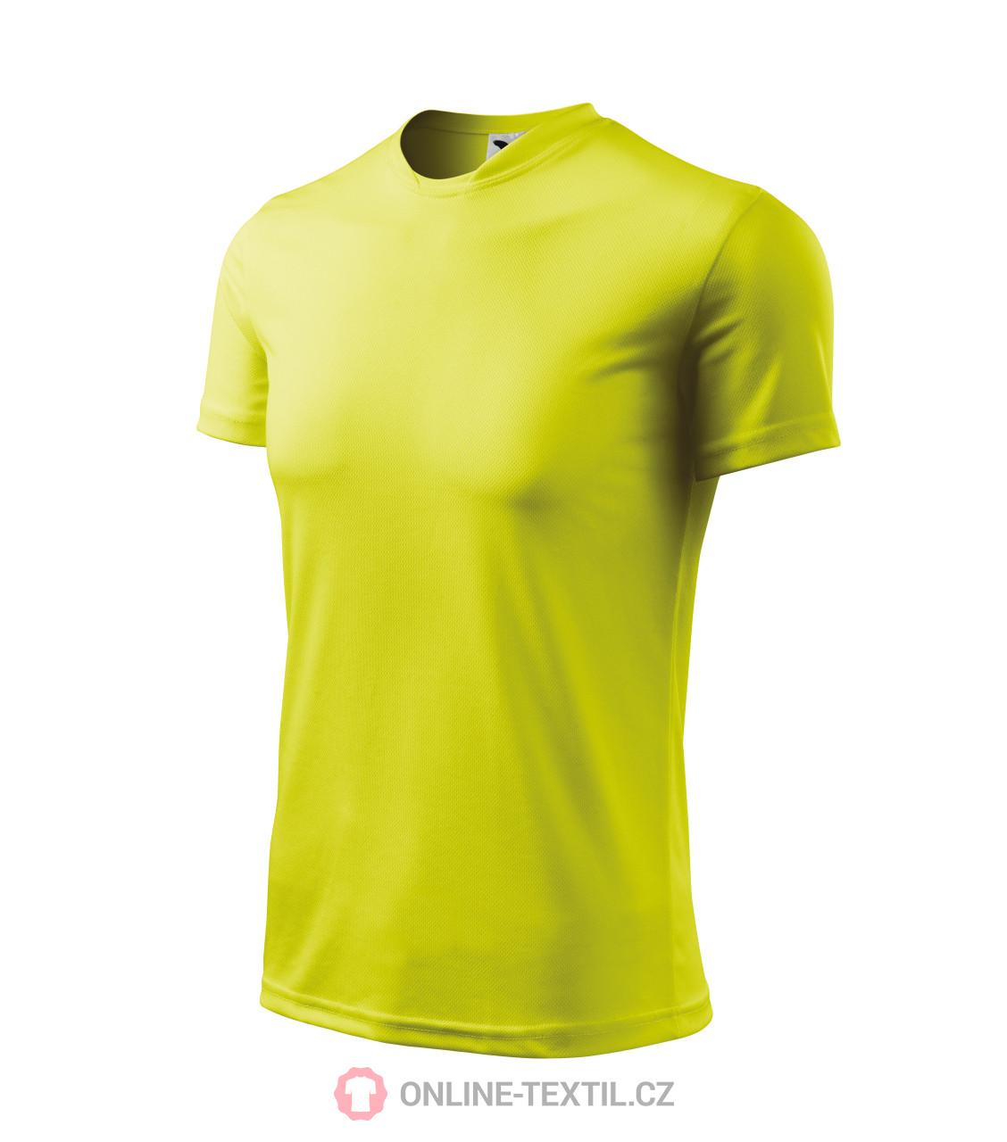 87be897c61280 ADLER CZECH Detské športové tričko Fantasy 147 - neon yellow z ...