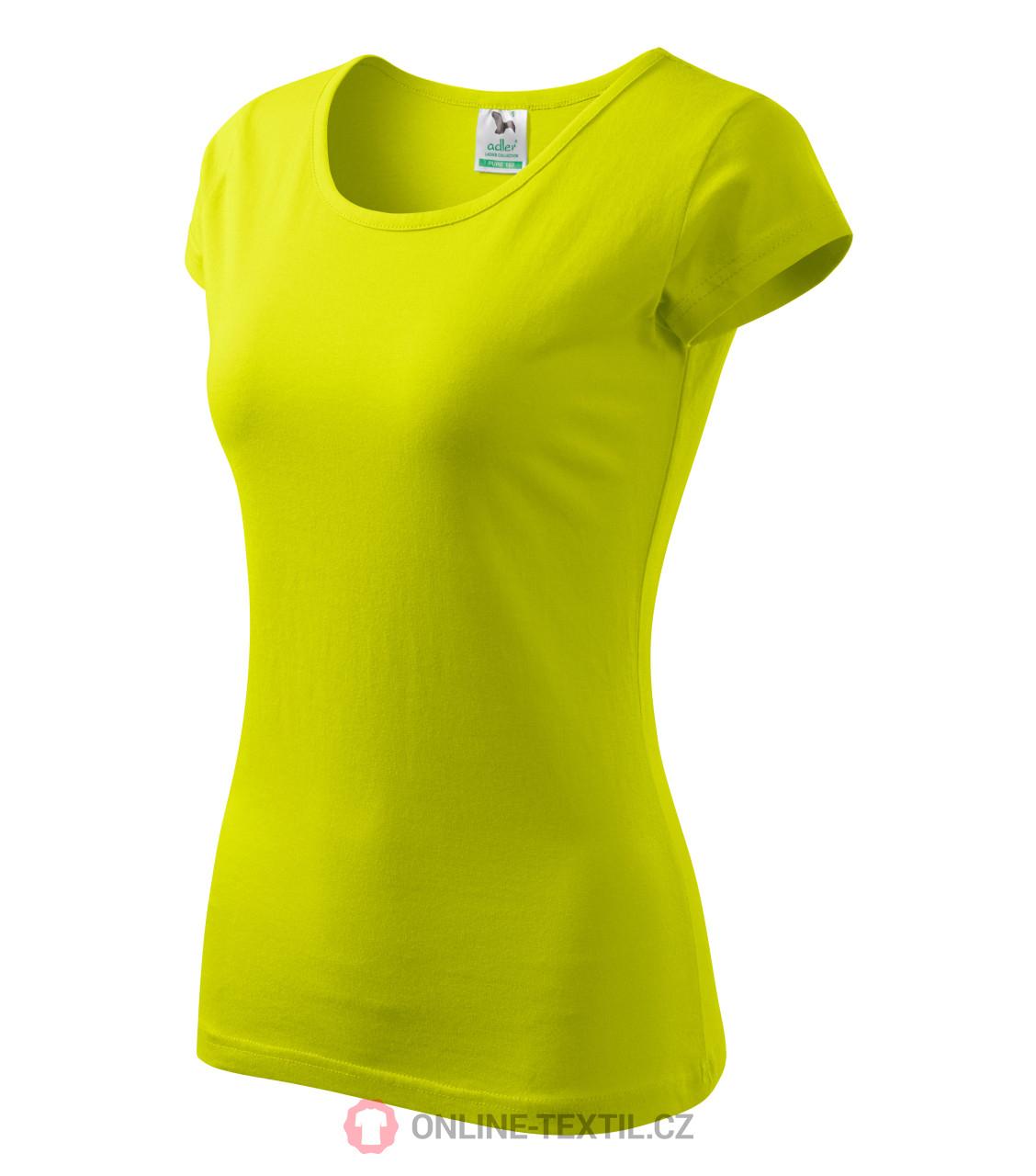 325974859f023 ADLER CZECH Pure tričko dámske A22 - limetková z kolekcie MALFINI ...
