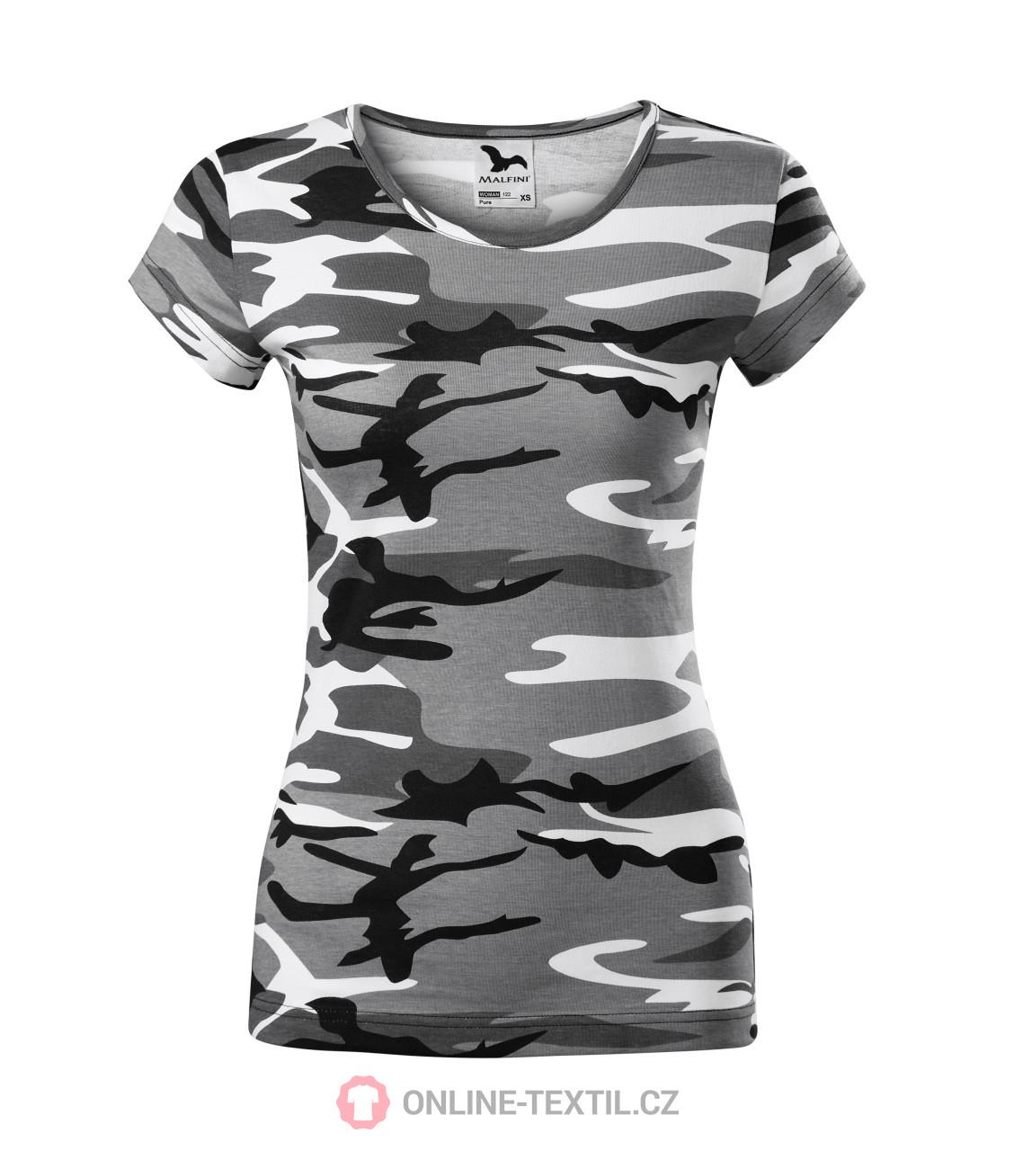 ADLER CZECH Tričká dámske Pure 122 - camouflage gray z kolekcie ... 138123e1562