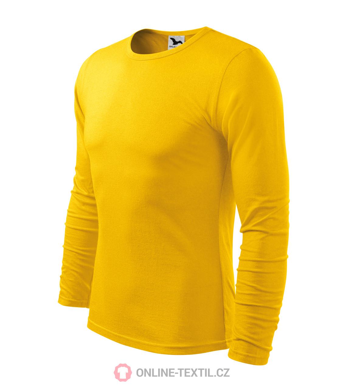 60ec3288897f ADLER CZECH Triko pánske FIT-T s dlhým rukávom 119 - žltá z kolekcie ...