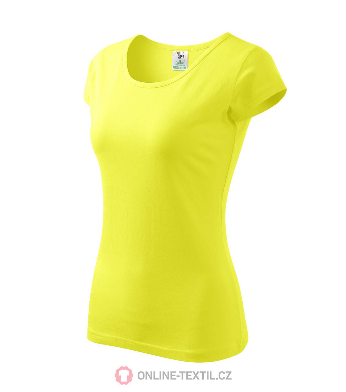d0609a320 ADLER CZECH Pure tričko dámske A22 - citrónová z kolekcie MALFINI ...
