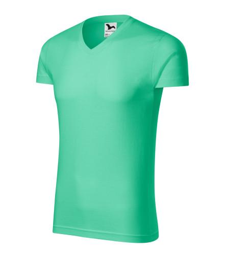 746aa8f85 ADLER CZECH Priliehavé pánské tričko Slim Fit V-neck vyššej gramáže ...