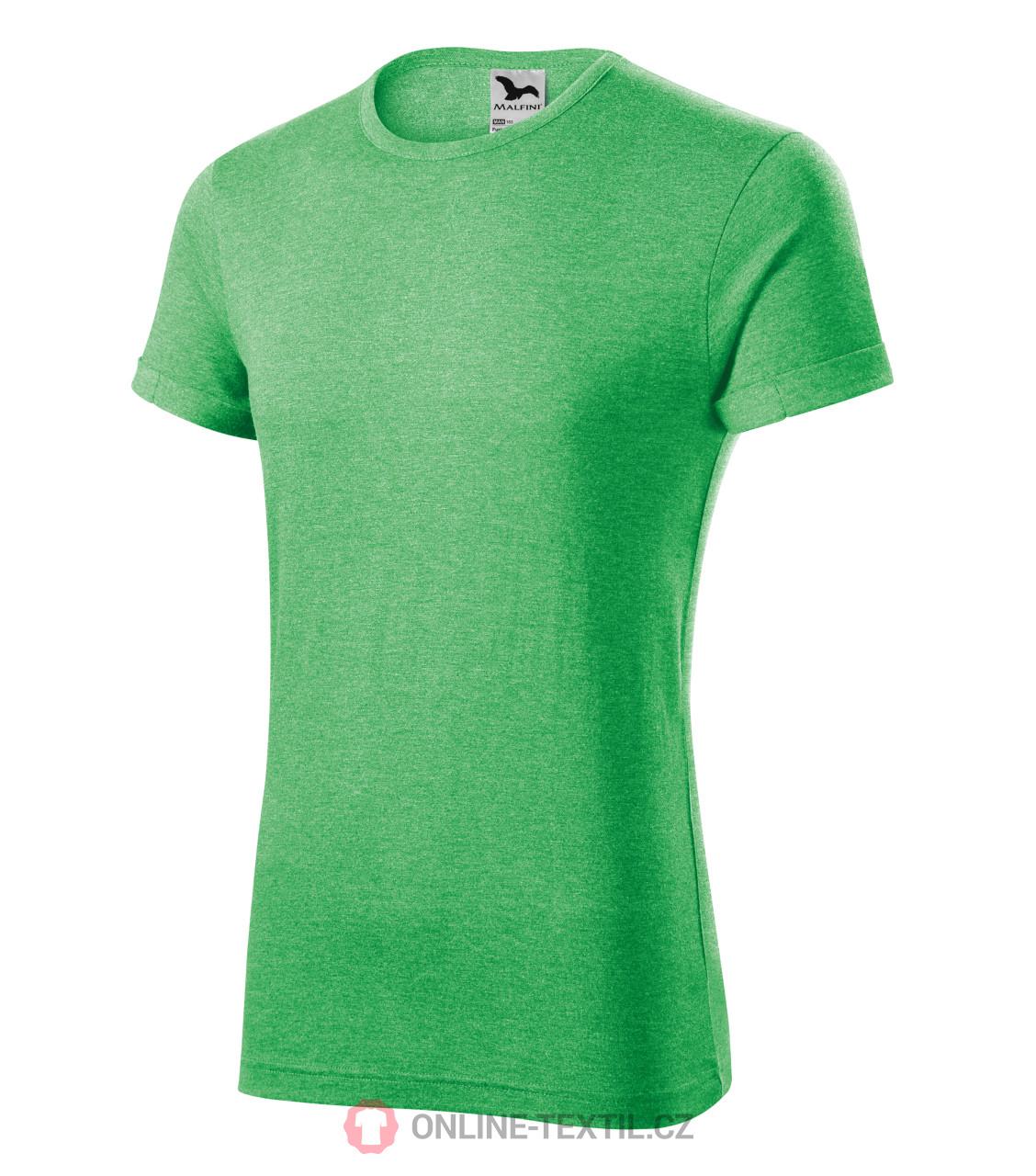 78e9a67f1 ADLER CZECH Melírované pánske tričko Fusion 163 - zelený melír z ...
