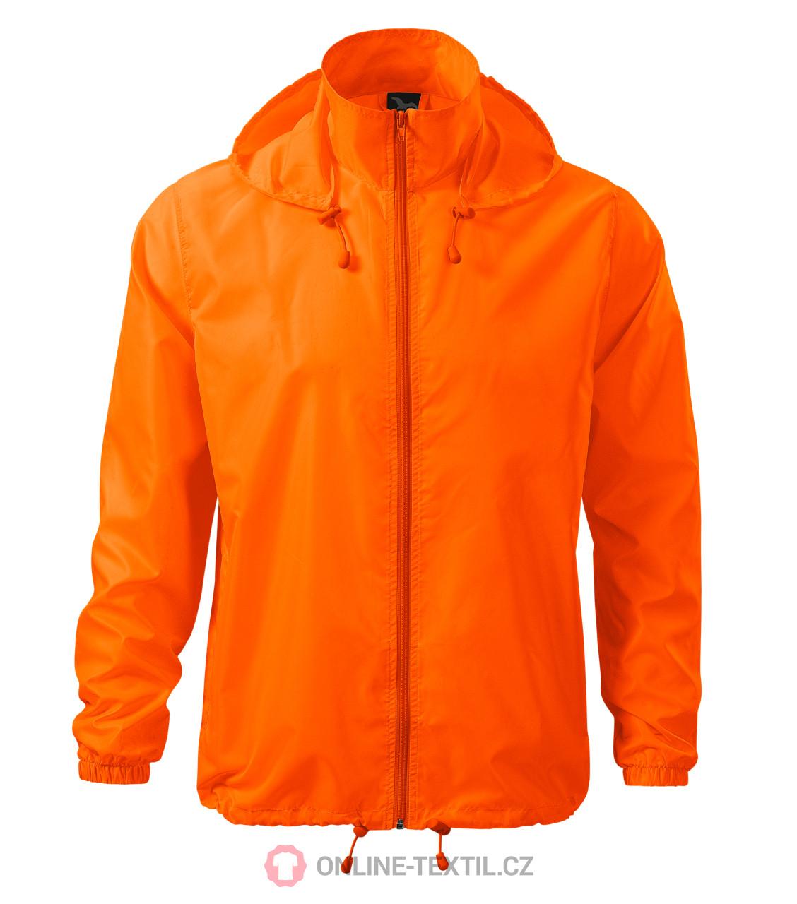 ADLER CZECH Unisex Vetrovka Windy 524 - neon orange z kolekcie ... 77ed73e7360